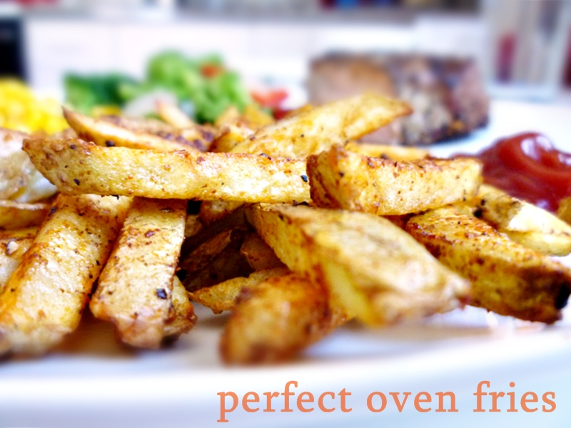 fries garlicky oven fries with harissa ketchup recipes dishmaps oven ...