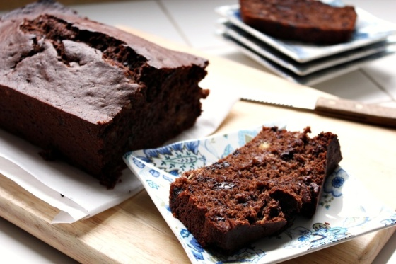 double chocolate banana bread, a full measure of happiness