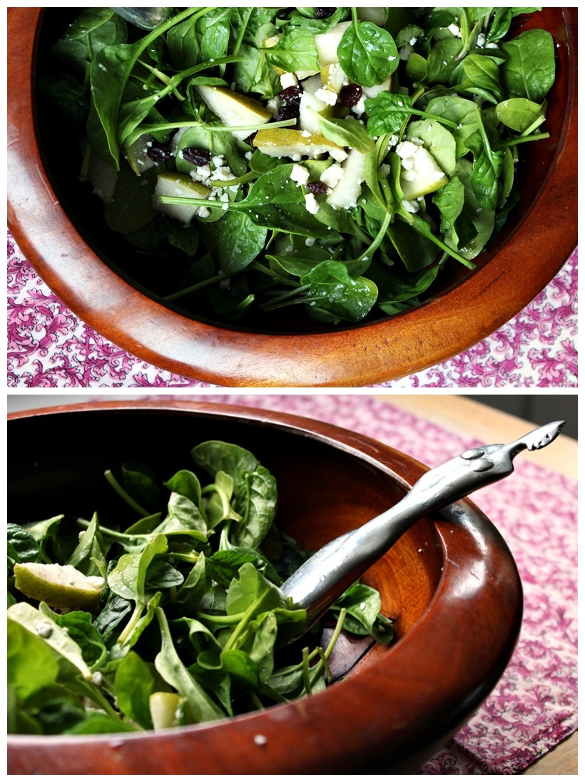 Pear And Gorgonzola Spinach Salad A Full Measure Of